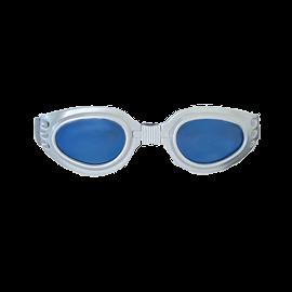 Hundbrille Hot II – chrom, blau – XS Mini