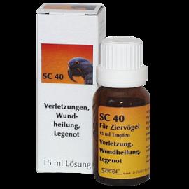 Supra-Cell homöopathisches Arzneimittel für Vögel SC 40 Verletzungen, Wundheilung, Legenot