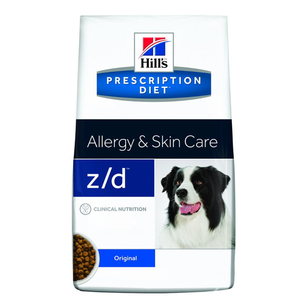 Hill's Prescription Diet z/d canine Allergy + Skin Care – 10 kg Trockenfutter
