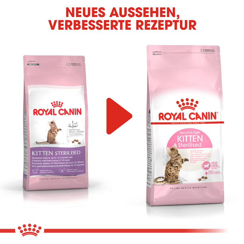 Royal Canin KITTEN Sterilised Kittenfutter für kastrierte Kätzchen