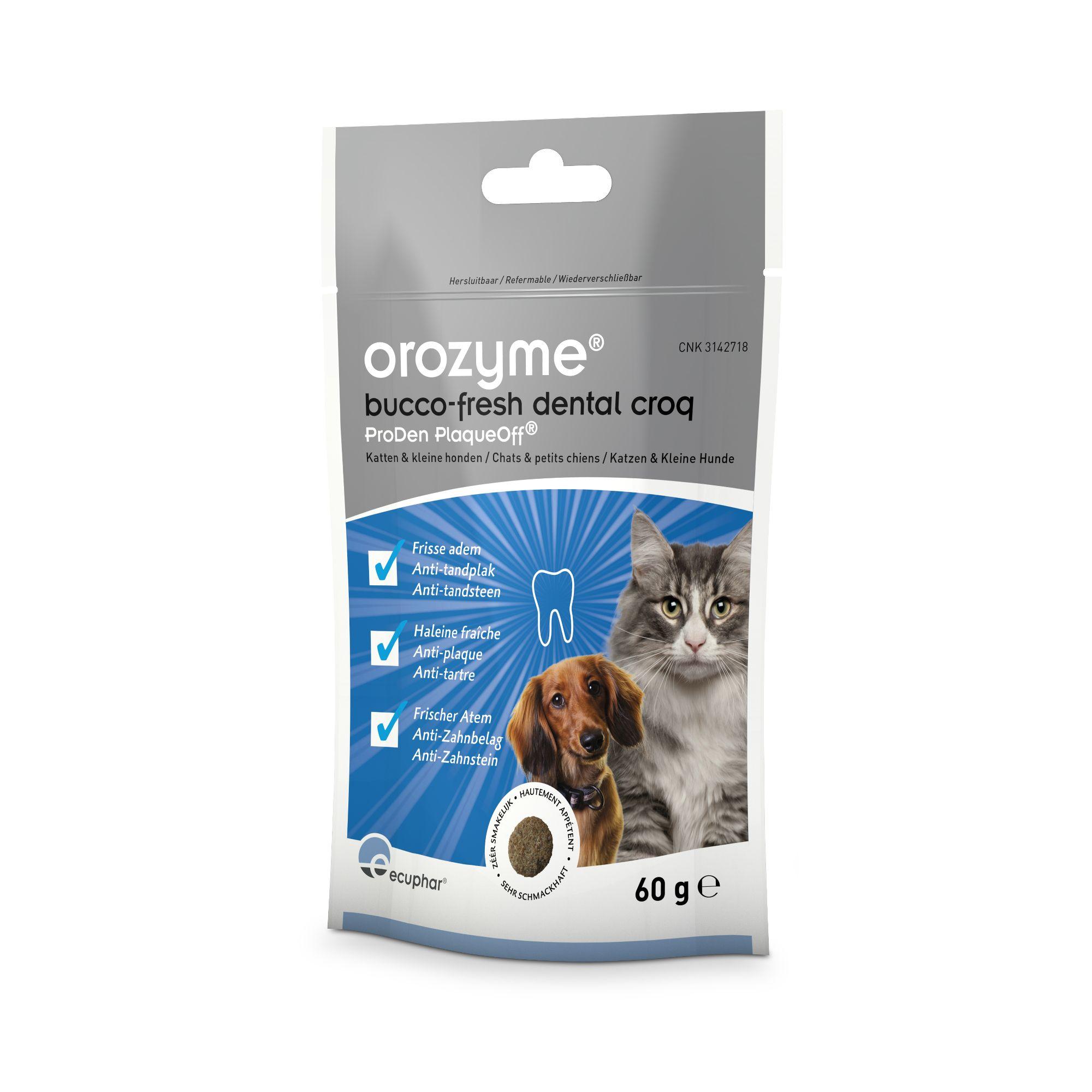 ecuphar Orozyme® Bucco-Fresh Dental Croq für kleine Hunde und Katzen