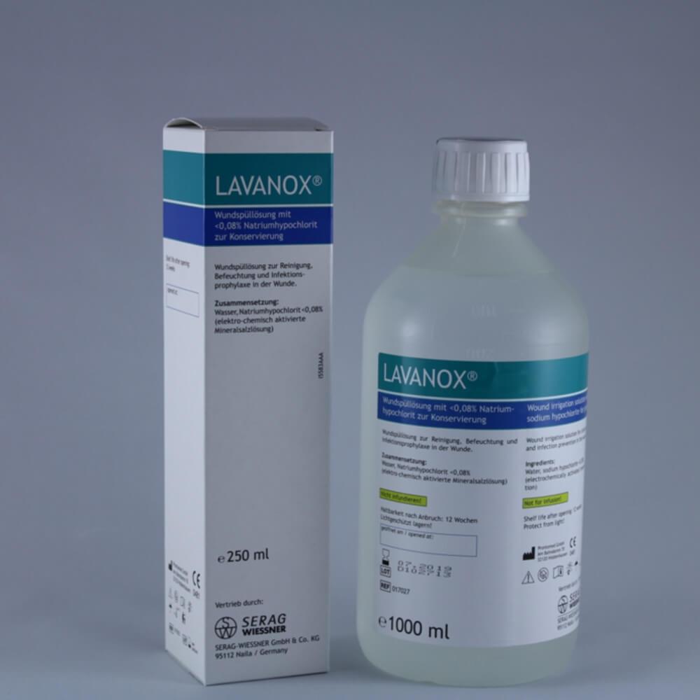 Lavanox Wundspüllösung zur Reinigung bei Tieren von Selectavet