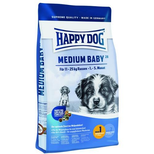 Happy Dog Supreme Junior Medium Baby 28 – Trockenfutter