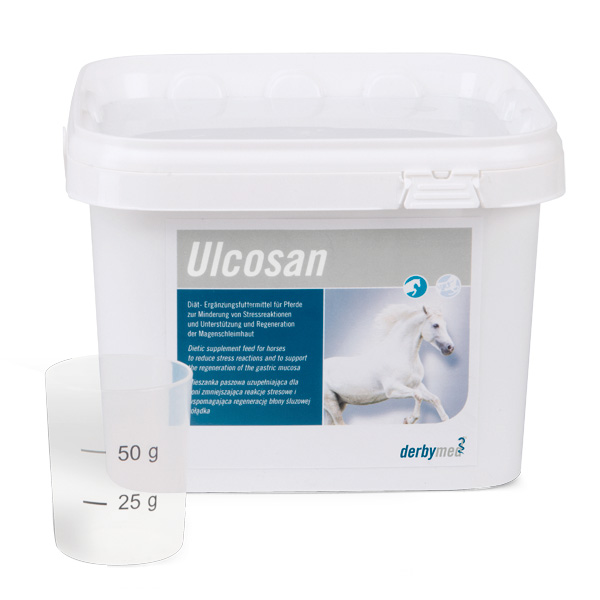 derbymed Ulcosan 2,5 kg Pellets für Pferde Unterstützung und Regeneration der Magenschleimhaut von