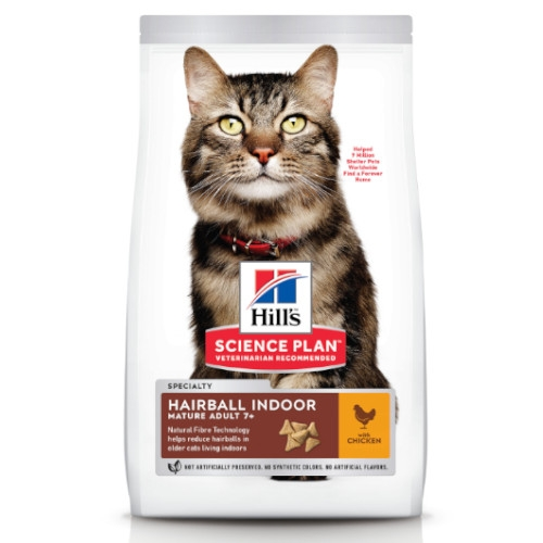 Hill's Science Plan Katze Mature Adult 7+ Hairball Indoor Huhn