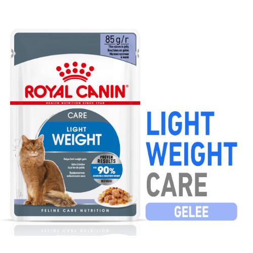 Royal Canin LIGHT WEIGHT in Gelee Nassfutter für zu Übergewicht neigenden Katzen