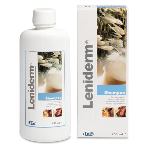 Leniderm Shampoo 250ml für Tier mit juckender Dermatitis von Livisto
