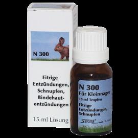 Supra-Cell homöopathisches Arzneimittel für Kleinnager N 300 eitrigen Entzündungen, Schnupfen, Bindehautentzündungen