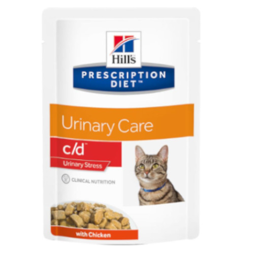 Hill's Prescription Diet c/d Urinary Stress mit Huhn Frischebeutel 12 x 85 g