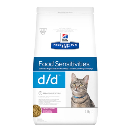 Hill's Prescription Diet d/d feline – 1,5 kg Trockenfutter