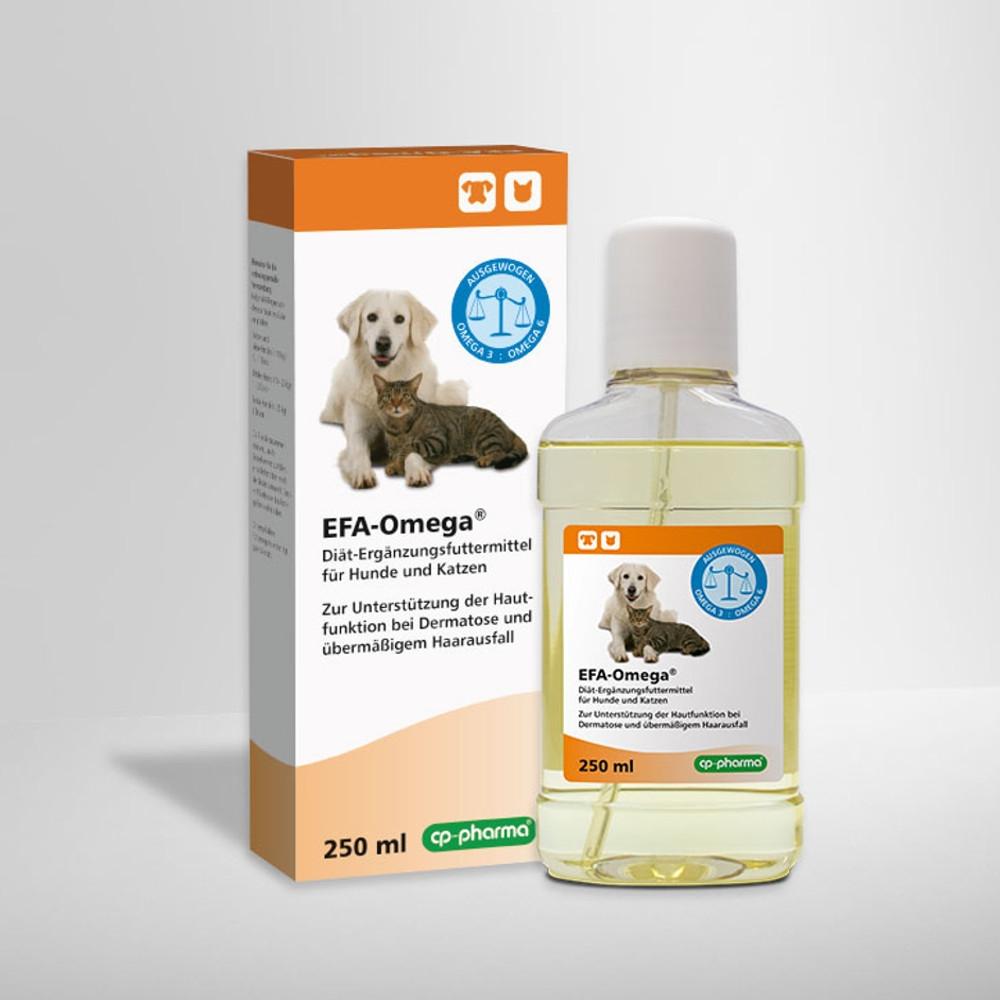 EFA-Omega für Hunde und Katzen bei Dermatose und übermäßigem Haarausfall von cp-pharma