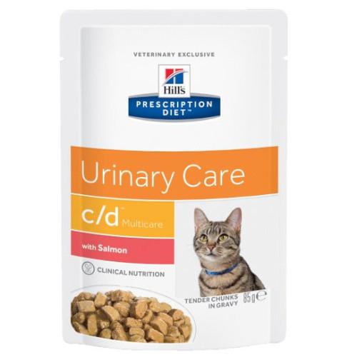 Hill's Prescription Diet c/d feline mit Lachs Frischebeutel