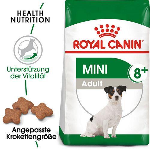 Royal Canin MINI Adult 8+ Trockenfutter für ältere kleine Hunde 2 kg - MHD 21.10.2021