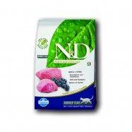 Farmina Natural&Delicious Grain Free Cat Adult Lamb+Blueberry 5kg Trockenfutter für Katzen