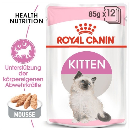 Royal Canin KITTEN Nassfutter in Mousse für Kätzchen 12 x 85g - Umverpackung defekt