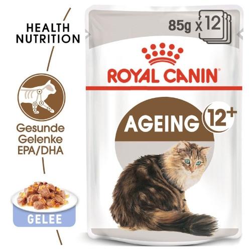 Royal Canin AGEING 12+ in Gelee Nassfutter für ältere Katzen