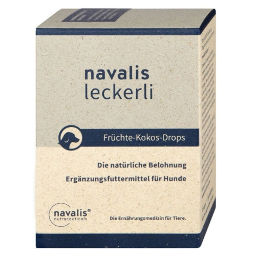 navalis Leckerli Früchte-Kokos-Drops Hund 150 g