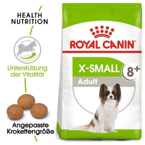 Royal Canin X-SMALL Adult 8+ Trockenfutter für sehr kleine Hunde