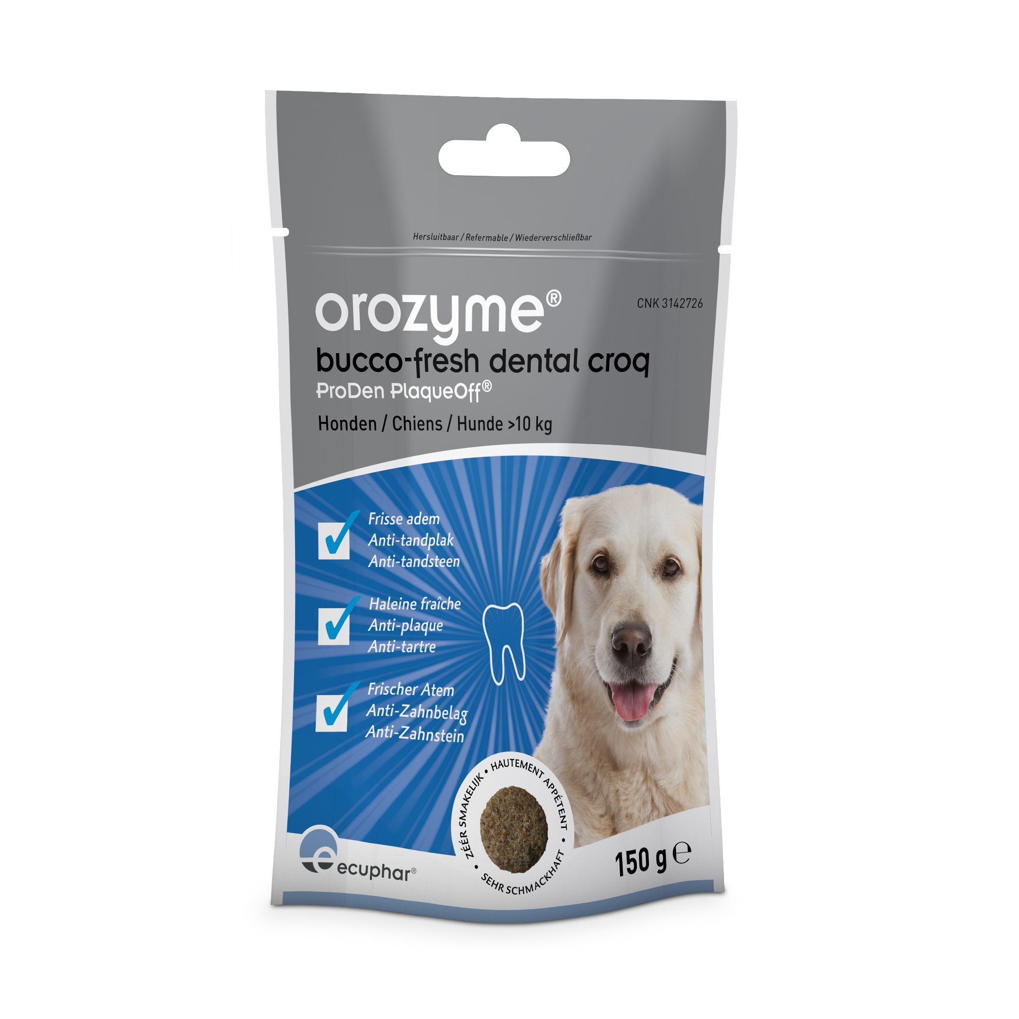 ecuphar Orozyme® Bucco-Fresh Dental Croq für Hunde und Katzen