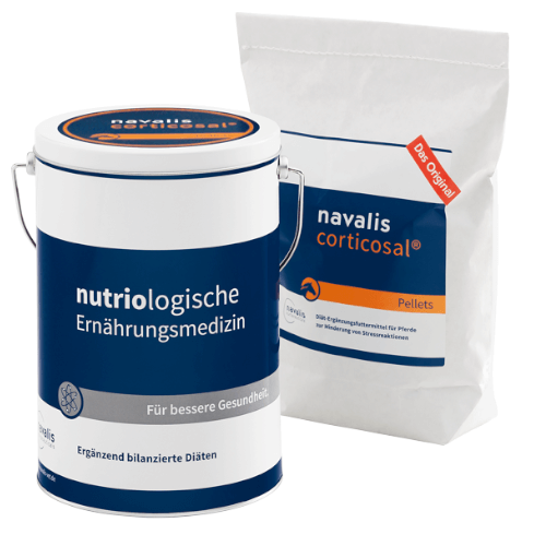 corticosal 2000g  Dose + Nachfüllpack zur Untersützung bei Stressreaktionen für Pferde von navalis