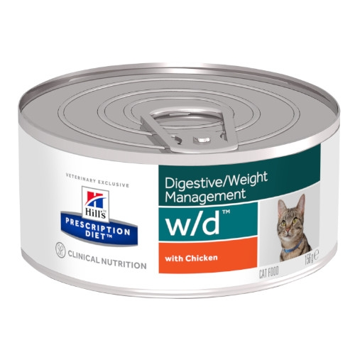 Hill's Prescription Diet w/d feline feingehackt mit Huhn Nassfutter