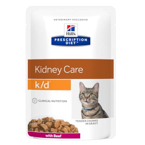 Hill's Prescription Diet k/d feline mit Rind Frischebeutel
