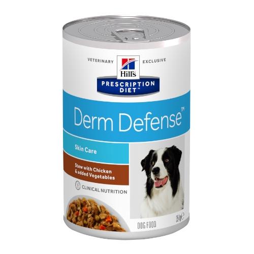 Hill's Prescription Diet Derm Defense Canine Ragout mit Huhn & zugefügtem Gemüse in der Dose