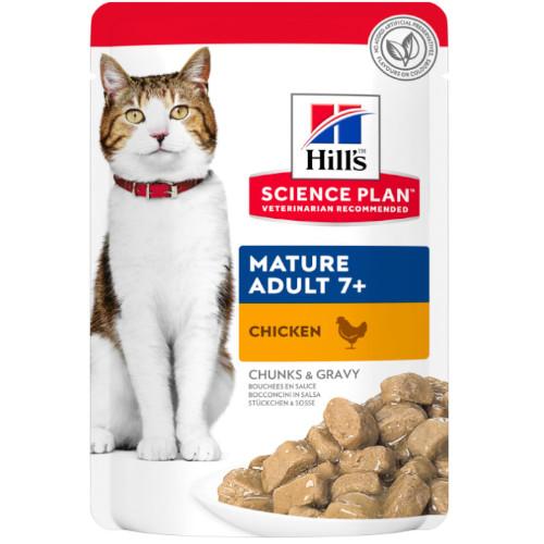 Hill's Science Plan Feline Mature Adult 7+ Huhn Frischebeutel