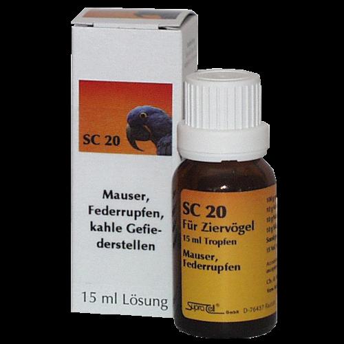 Supra-Cell homöopathisches Mittel für Vögel SC 20 Mauser