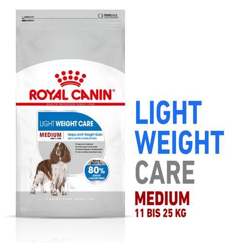 Royal Canin LIGHT WEIGHT CARE MEDIUM Trockenfutter für zu Übergewicht neigenden Hunden