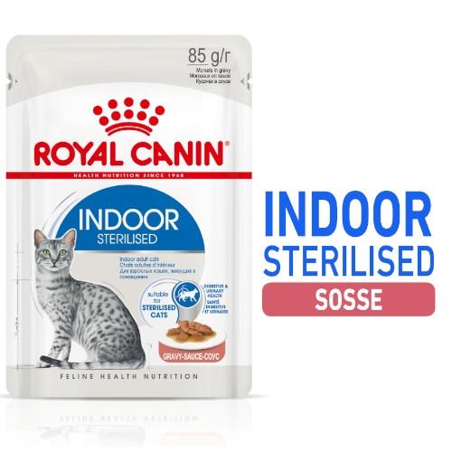 Royal Canin INDOOR Sterilised in Gelee Nassfutter für Wohnungskatzen