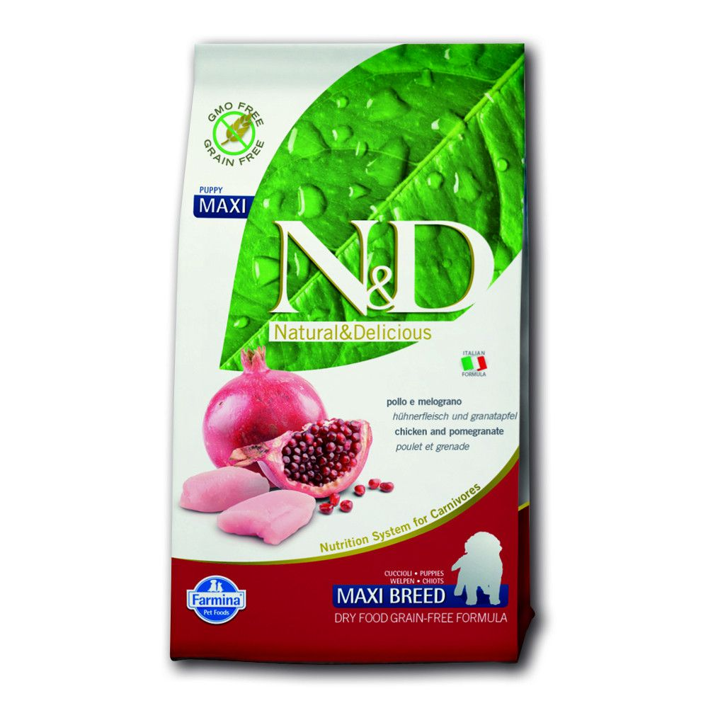 Farmina Natural & Delicious Grain Free Dog Puppy L Chicken + Pomegranate