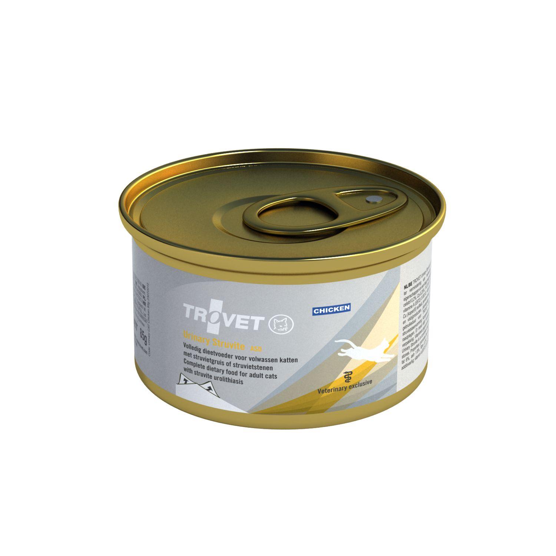 Trovet Urinary Struvite Huhn Nassfutter für Katzen 12x 100g