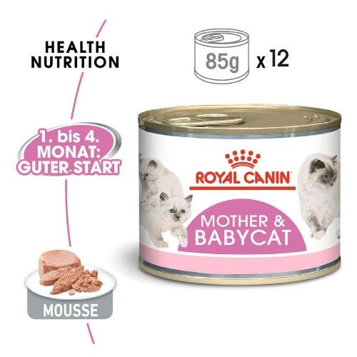 Royal Canin MOTHER & BABYCAT Mousse für tragende Katzen und Kitten