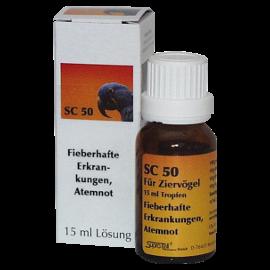 Supra-Cell homöopathisches Arzneimittel für Vögel SC 50 fieberhaften Erkrankungen, Atemnot
