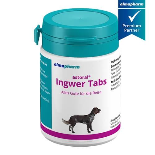 astoral Ingwer Tabs bei Reisekrankheit von Hunden von almapharm
