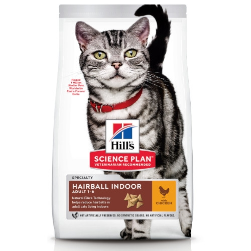 Hill's Science Plan Katze Adult Hairball Indoor Huhn