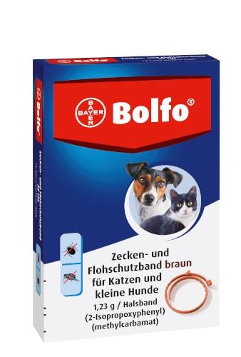 Bayer Bolfo Zecken- und Flohschutzband braun für Katzen und kleine Hunde 35 cm