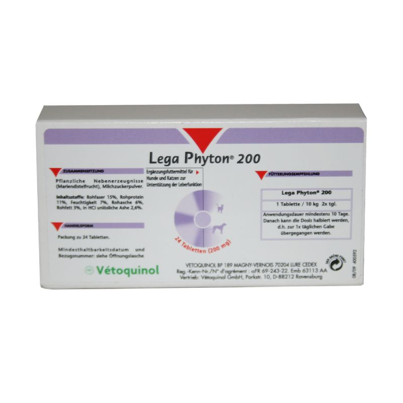 Vetoquinol Lega Phyton 200 24 Tabletten