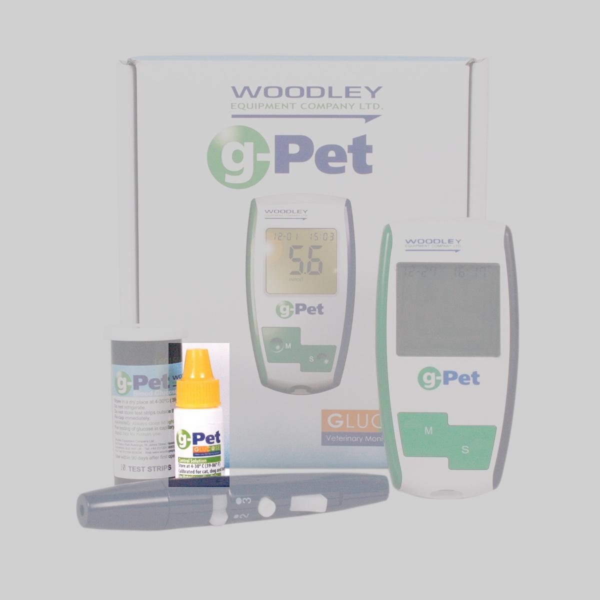g-Pet Plus+ Kontrolllösung für Hunde, Katzen und Pferde mit Diabetes
