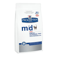 Hill's Prescription Diet m/d feline – 1,5 kg Trockenfutter