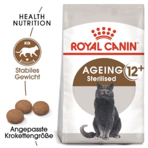 AGEING 12+ Sterilised Trockenfutter für ältere kastrierte Katzen von Royal Canin