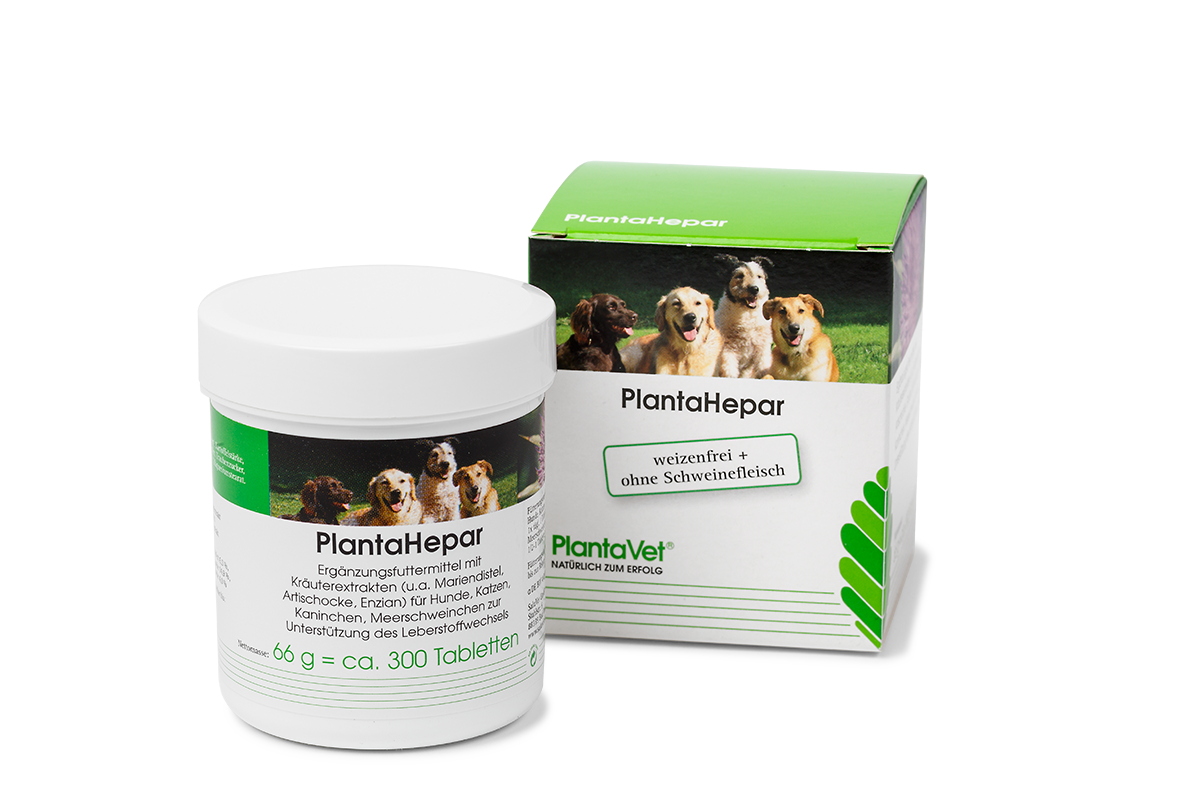 PlantaHepar Tabletten zur Unterstützung der Leber für Hunde, Katzen und Nager von PlantaVet