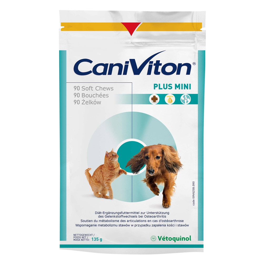 Vetoquinol Caniviton plus mini 90 chews
